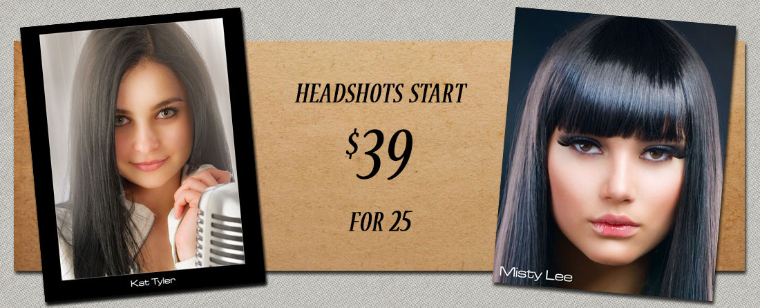 Headshots starting at $25 for 10